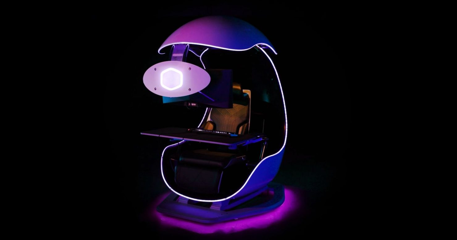 cooler-master-unveils-the-orb-x-semi-enclosed-workstation,-a-futuristic-looking-&-immersive-gaming-pod