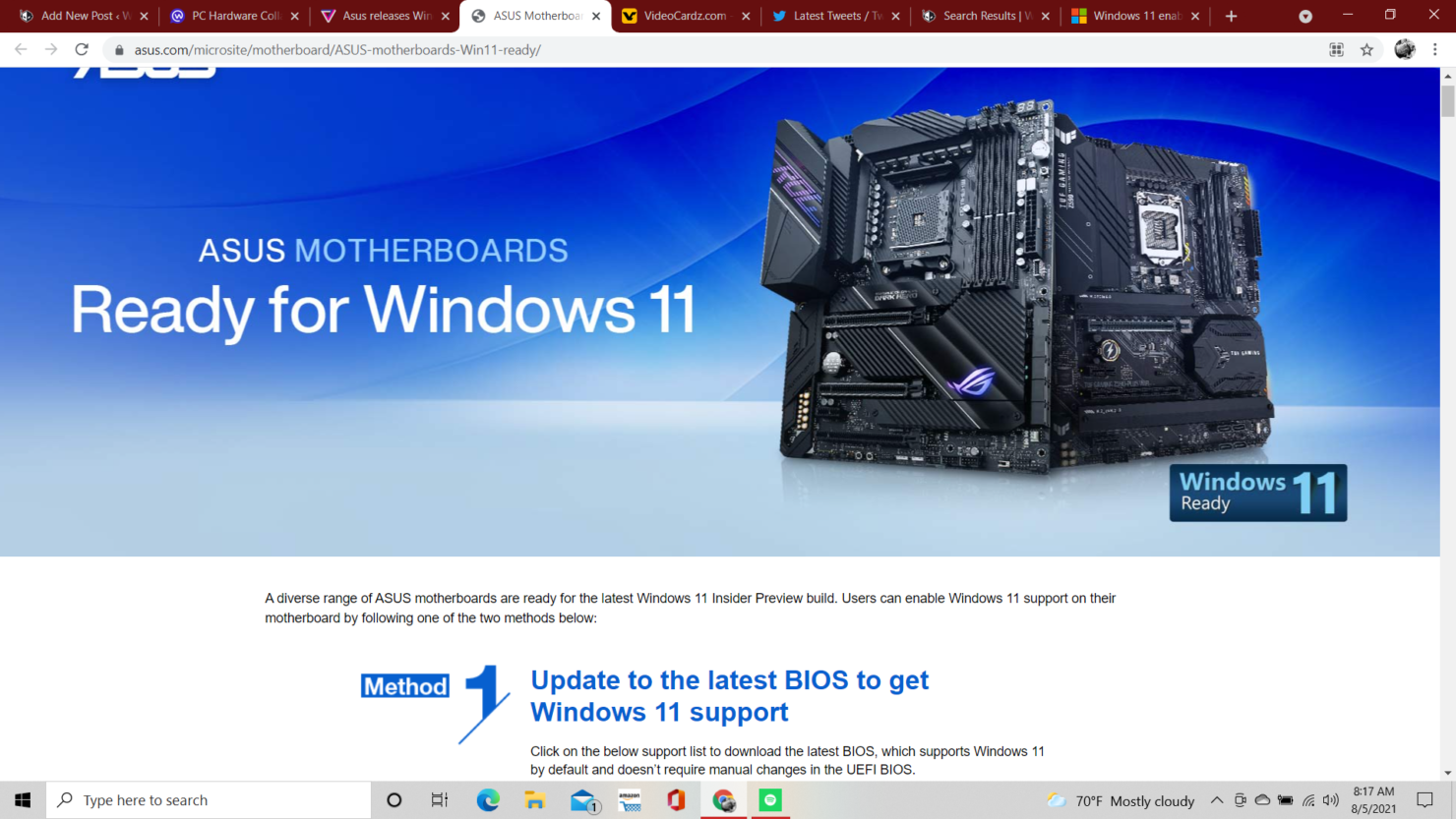 asus-releases-auto-tpm-motherboard-bios-in-for-windows-11-support